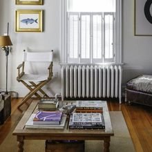 Фотография: Гостиная в стиле Кантри, Декор интерьера, Дизайн интерьера, Декор, Цвет в интерьере, Морской – фото на InMyRoom.ru