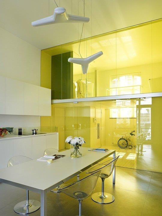 Желтая кухня - потолок