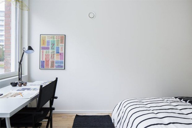 Фотография: Спальня в стиле Скандинавский, Малогабаритная квартира, Квартира, Планировки, Хранение – фото на InMyRoom.ru