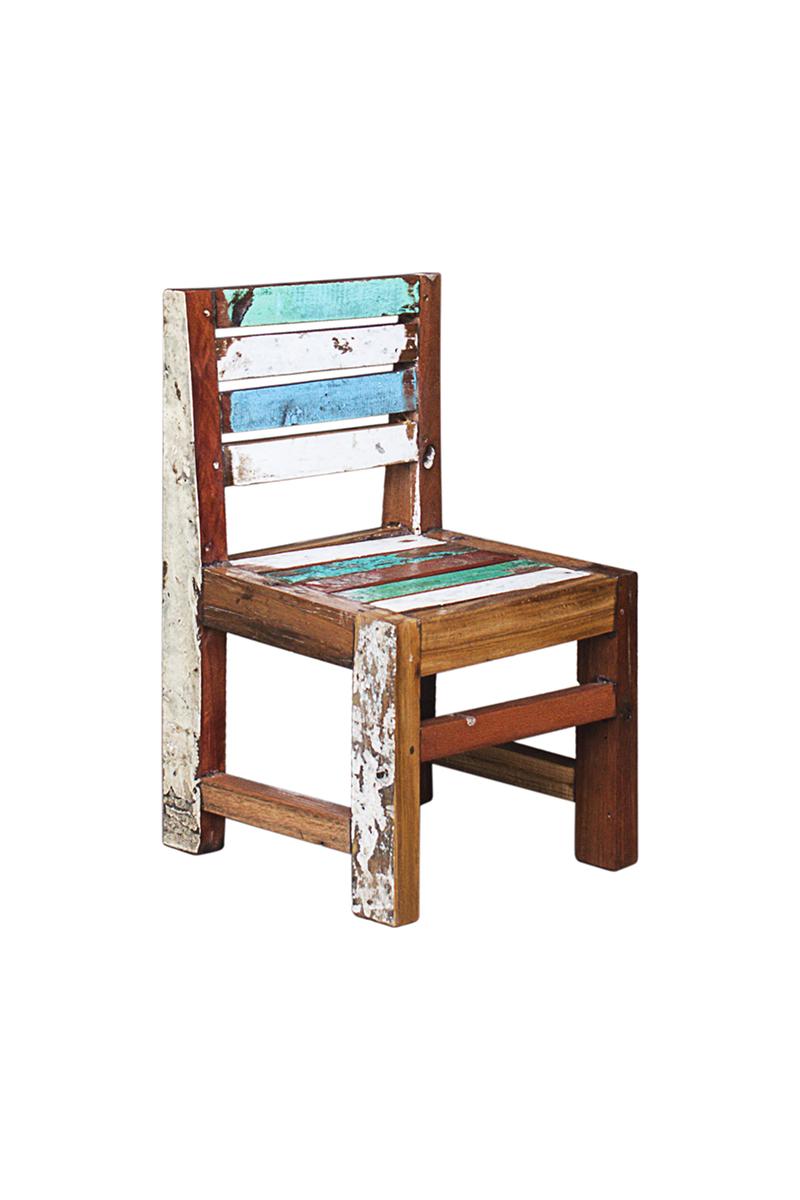Купить со скидкой Детский стул пятачок из массива древесины старого рыбацкого судна