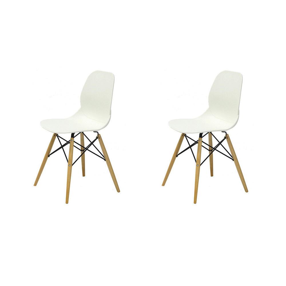 Купить Набор из двух стульев на деревянных ножках белый, inmyroom, Китай