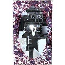 """Зеркало с цветным рисунком """"Фиолетовые Розы"""""""