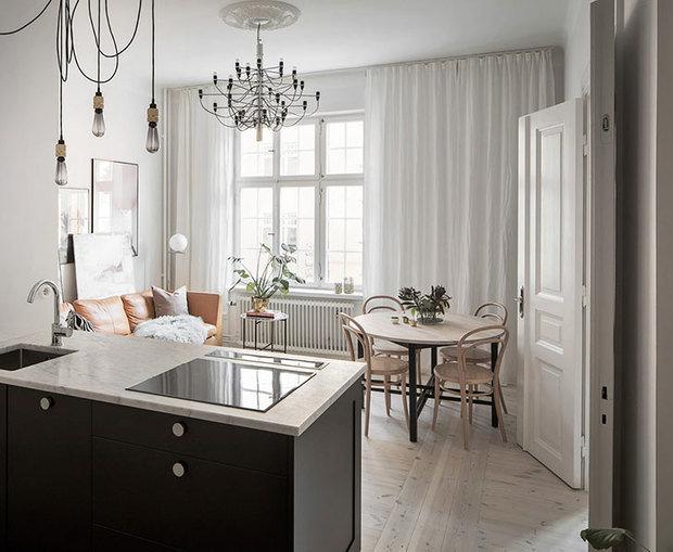 Фотография: Кухня и столовая в стиле Скандинавский, Декор интерьера, Малогабаритная квартира, Квартира, Швеция – фото на InMyRoom.ru