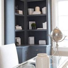Фотография: Кабинет в стиле Кантри, Декор интерьера, Мебель и свет, Советы, Белый, как оформить пустой угол, пустой угол в квартире – фото на InMyRoom.ru