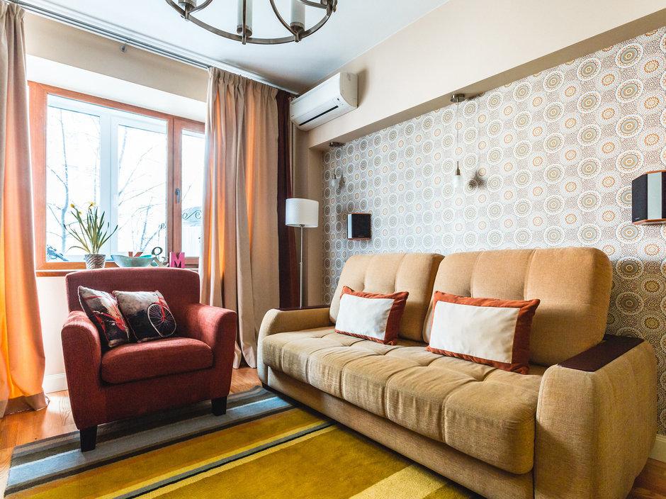 Фотография: Гостиная в стиле Современный, Классический, Квартира, Проект недели, Jazzberry – фото на InMyRoom.ru