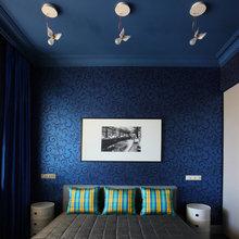 Фотография: Спальня в стиле Современный, Ванная, Квартира, Цвет в интерьере, Дома и квартиры, Белый, Зеленый, Синий – фото на InMyRoom.ru