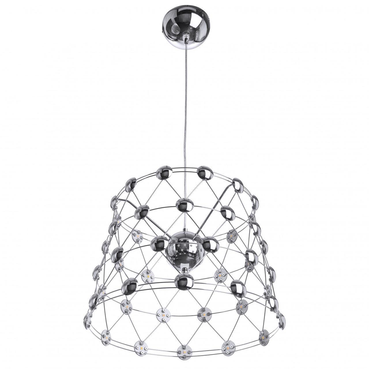 Подвесной светодиодный светильник хромового цвета