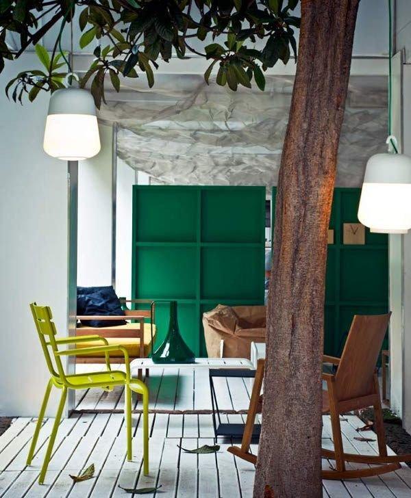 Фотография: Гостиная в стиле Эклектика, Декор интерьера, Мебель и свет, Перегородки – фото на InMyRoom.ru