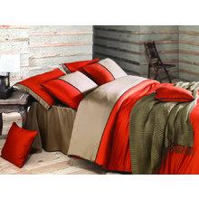 Комплект постельного белья евро ANNETTE оранжевый