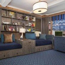Фотография: Гостиная в стиле Современный, Спальня, Гардеробная, Декор интерьера, Интерьер комнат, Системы хранения, Кровать, Гардероб – фото на InMyRoom.ru