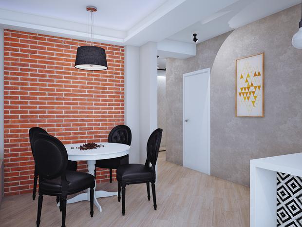 Фотография: Кухня и столовая в стиле Лофт, Современный, Классический, Квартира, Планировки, Мебель и свет, Проект недели – фото на InMyRoom.ru