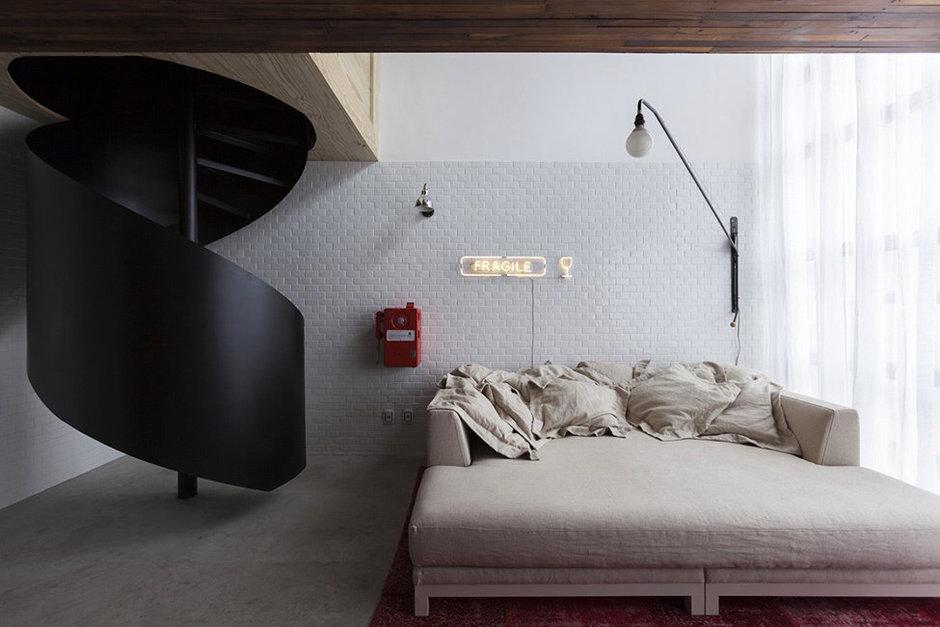 Фотография: Спальня в стиле Скандинавский, Малогабаритная квартира, Квартира, Дома и квартиры, Проект недели – фото на InMyRoom.ru