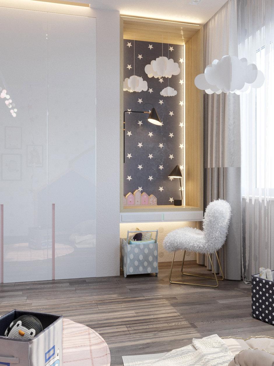 Фотография: Детская в стиле Современный, Квартира, Проект недели, Павел Алексеев, 3 комнаты, Более 90 метров, Монолитно-кирпичный, «Парк Рублево» – фото на InMyRoom.ru
