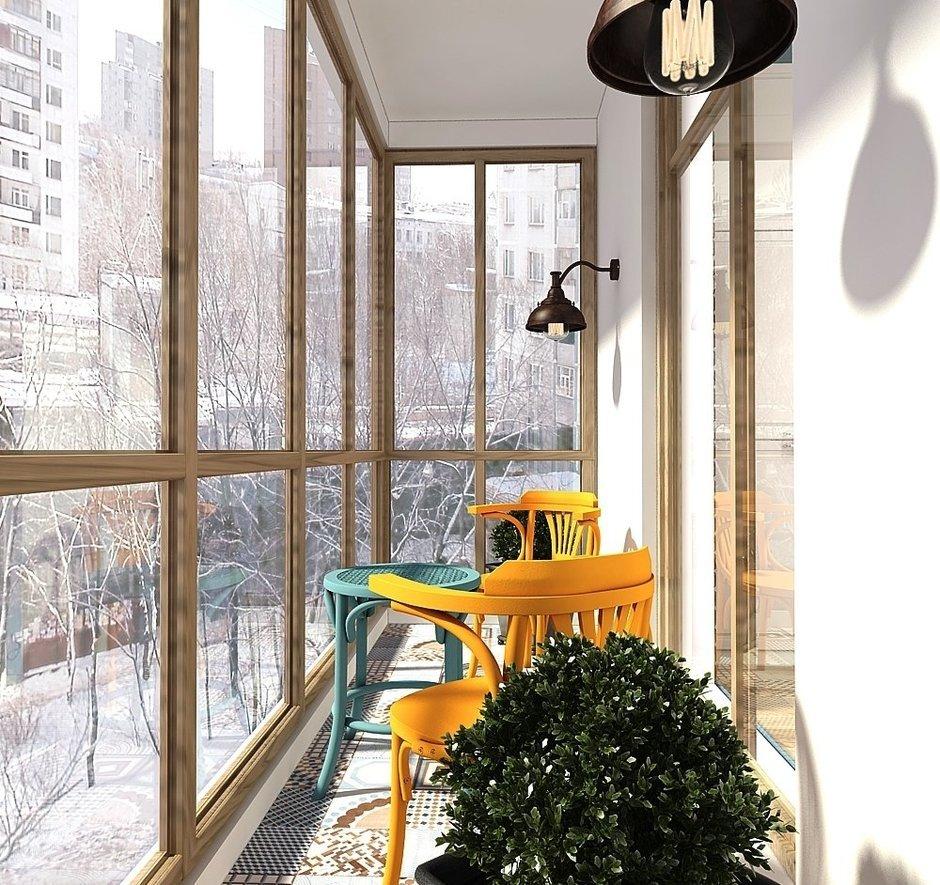 Фотография: Балкон в стиле Скандинавский, Квартира, Проект недели, Zi-Design Interiors – фото на InMyRoom.ru