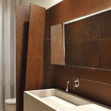 Фотография: Ванная в стиле Лофт, Современный, Хай-тек, Декор интерьера, Декор, CorTen, сталь-кортен, кортен – фото на InMyRoom.ru