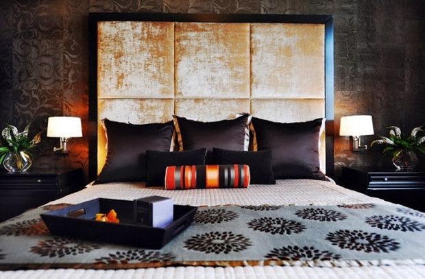 Фотография: Спальня в стиле Современный, Восточный, Эклектика, Интерьер комнат – фото на InMyRoom.ru