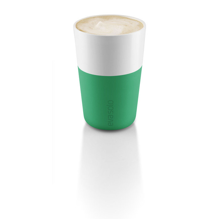 Набор чашек для латте, 2 шт, ярко-зеленый/белый