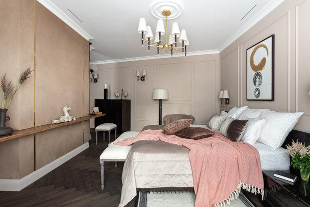 Фотография: Спальня в стиле Классический, Квартира, Проект недели, Москва, 3 комнаты, Более 90 метров, Ирина Межова – фото на INMYROOM