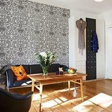Фотография: Гостиная в стиле Скандинавский, Малогабаритная квартира, Квартира, Цвет в интерьере, Дома и квартиры, Белый, Стена, Пол – фото на InMyRoom.ru