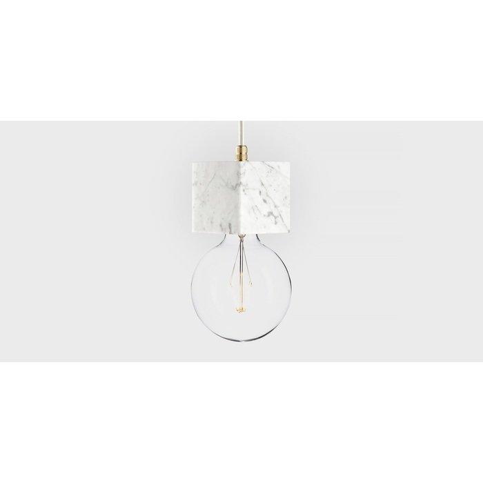 Подвесной светильник из мрамора Marmor Veldi bianco