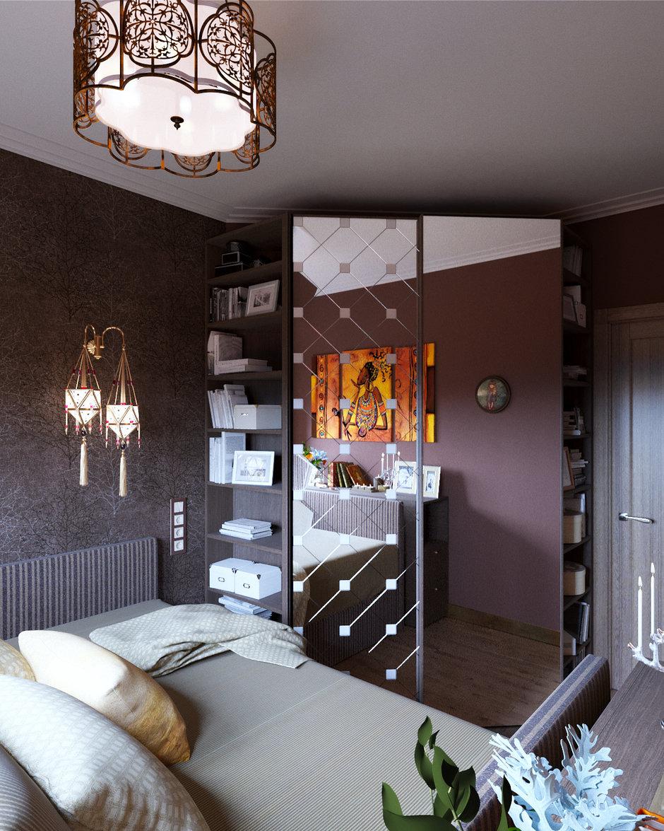 Фотография: Спальня в стиле Восточный, Проект недели, ЖК АРТ, Красногорск, Студия 3.14, 4 и больше, 60-90 метров, Монолитно-кирпичный, ЖК «АРТ» – фото на InMyRoom.ru
