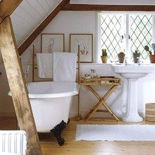 Фотография: Ванная в стиле Кантри, Современный, Чердак, Мансарда – фото на InMyRoom.ru