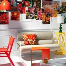 Фотография: Гостиная в стиле Кантри, Скандинавский, Современный, Эклектика, Декор интерьера, Дизайн интерьера, Цвет в интерьере, Оранжевый – фото на InMyRoom.ru