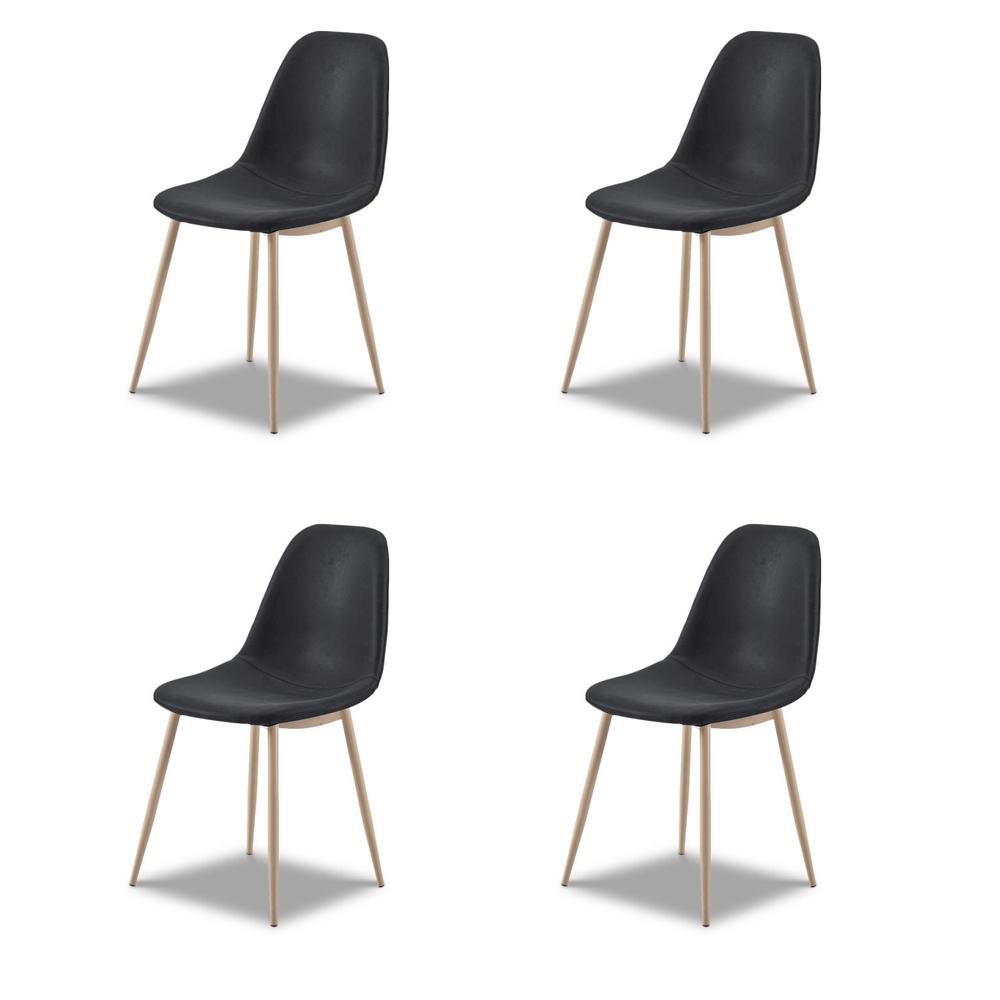 Купить Комплект из четырех стульев Cowboy в темно-серой ткани, inmyroom, Китай