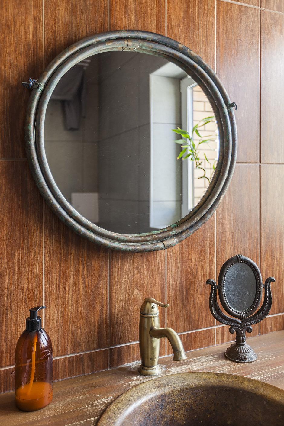 Фрагмент ванной комнаты в загородном доме под Красногорском