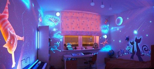 Фотография: Детская в стиле Современный, Интерьер комнат, Роспись – фото на InMyRoom.ru