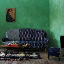 Фотография: Гостиная в стиле , Декор интерьера, Дизайн интерьера, Цвет в интерьере, Краска – фото на InMyRoom.ru