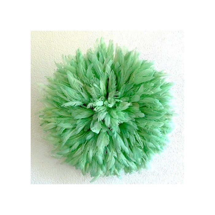Камерунская шляпа малая (35 см) пастельно зеленая