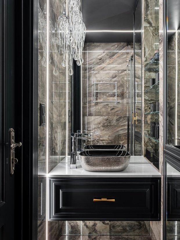 Фотография: Ванная в стиле Классический, Современный, Эклектика, Квартира, Проект недели, Москва, 4 и больше, Более 90 метров, Серж Махов – фото на INMYROOM