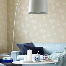 Фотография: Гостиная в стиле Современный, Декор интерьера, Дизайн интерьера, Цвет в интерьере, Обои, Стены, Эко – фото на InMyRoom.ru