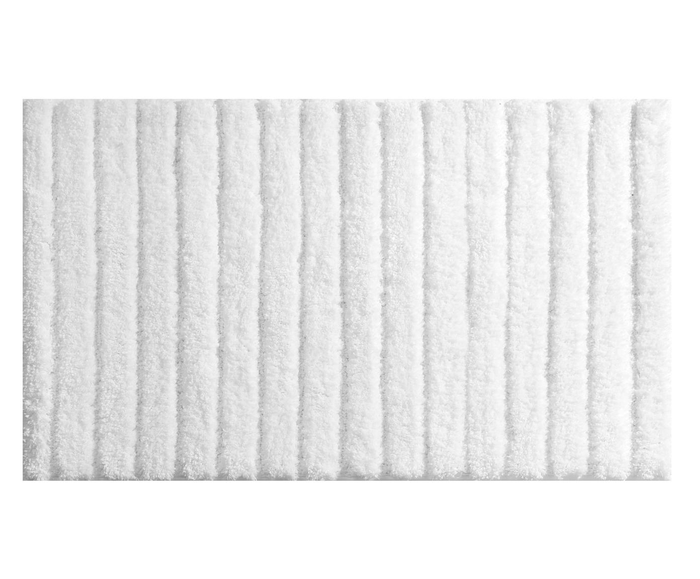 Фото #1: Коврик для ванной белого цвета 53х86