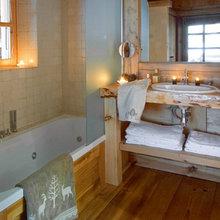Фотография: Ванная в стиле Скандинавский, Дом, Дома и квартиры, Камин – фото на InMyRoom.ru