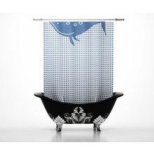 Дизайнерские шторки для ванной: Отдыхающий кит