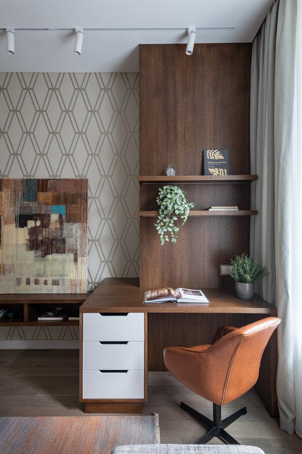 Фотография: Кабинет в стиле Современный, Квартира, Проект недели, Москва, Ануш Аракелян, 4 и больше, Более 90 метров – фото на INMYROOM