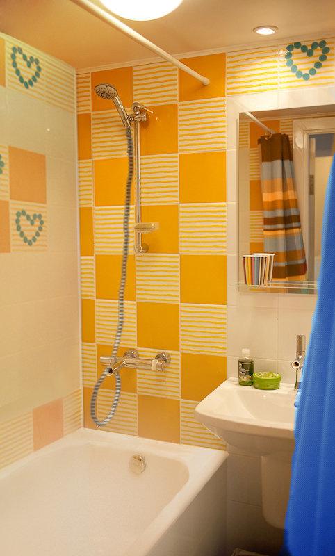 Фотография: Ванная в стиле Современный, Малогабаритная квартира, Квартира, Дома и квартиры, IKEA, Переделка – фото на InMyRoom.ru