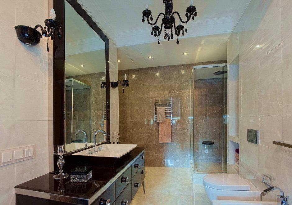 Фотография: Ванная в стиле Эклектика, Квартира, Дома и квартиры, Ар-деко, Неоклассика – фото на InMyRoom.ru