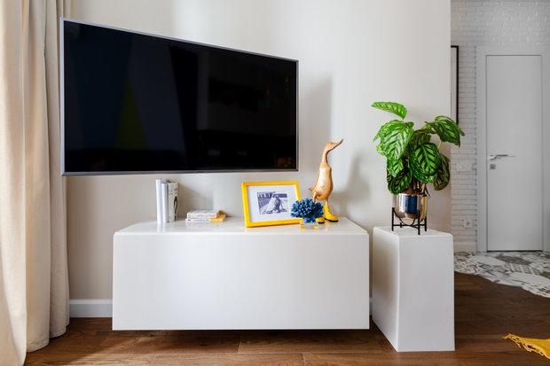 Фотография: Гостиная в стиле Современный, Квартира, Проект недели, Москва, 1 комната, до 40 метров, 40-60 метров, Анастасия Бондарева – фото на INMYROOM