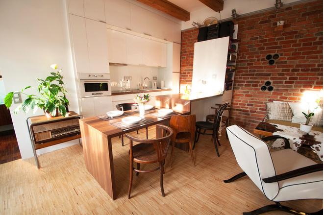 Фотография: Гостиная в стиле Лофт, Квартира, Дома и квартиры, Переделка – фото на InMyRoom.ru