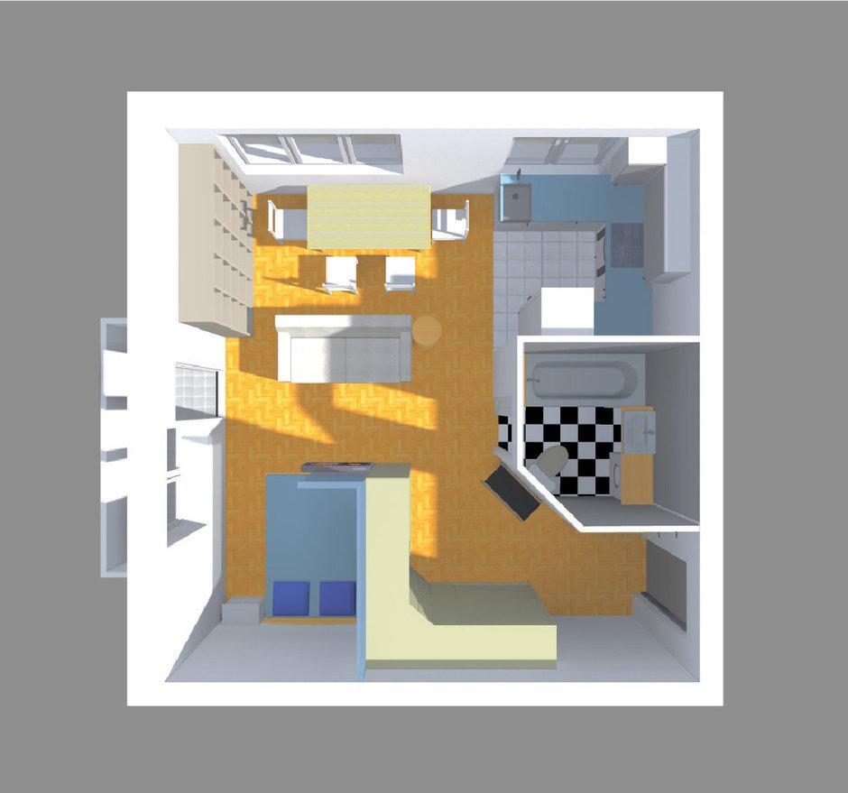 Фотография: Прихожая в стиле Современный, Малогабаритная квартира, Квартира, Планировки, Перепланировка, Ремонт на практике, Ксения Чупина, перепланировка недели, идеи перепланировки однушки, перепланировка однокомнатной квартиры, как обустроить однушку, как сделать из однушки студию, перепланировка однушки в санкт-петербурге, перепланировка в хрущевке, перепланировка в брежневке, Панельный дом, 1 комната, до 40 метров, I-507 – фото на InMyRoom.ru