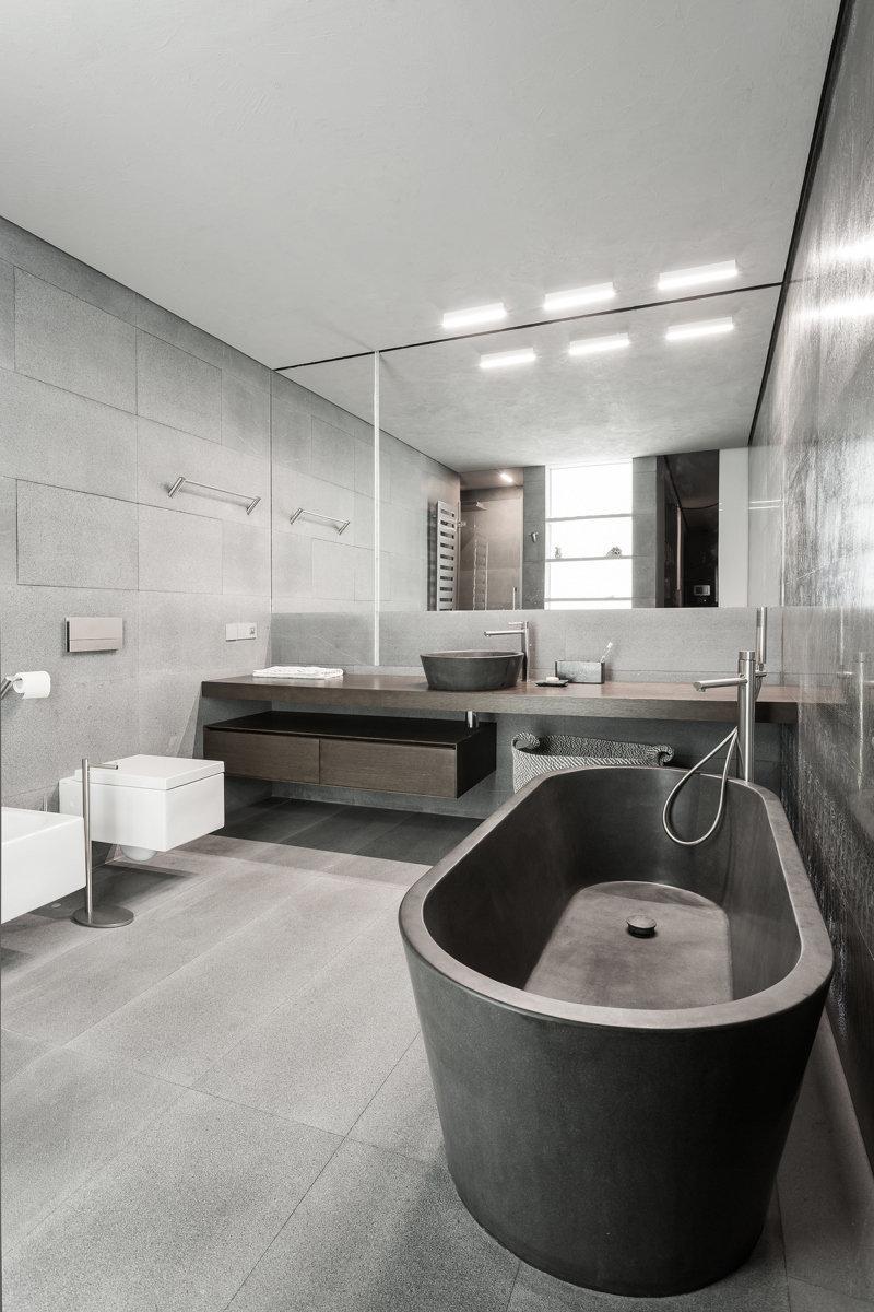 Фотография: Ванная в стиле Лофт, Квартира, Дома и квартиры, Минимализм – фото на InMyRoom.ru