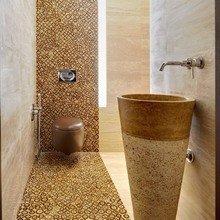 Фотография: Ванная в стиле Минимализм, Эко, Квартира, Цвет в интерьере, Дома и квартиры – фото на InMyRoom.ru