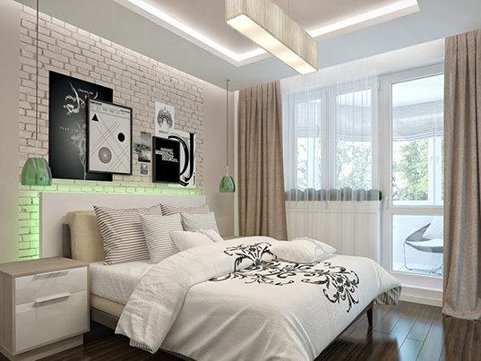 Фотография: Спальня в стиле Лофт, Современный, Интерьер комнат – фото на InMyRoom.ru