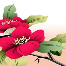 """Модульная картина от дизайнера """"Цветок на ветках"""""""