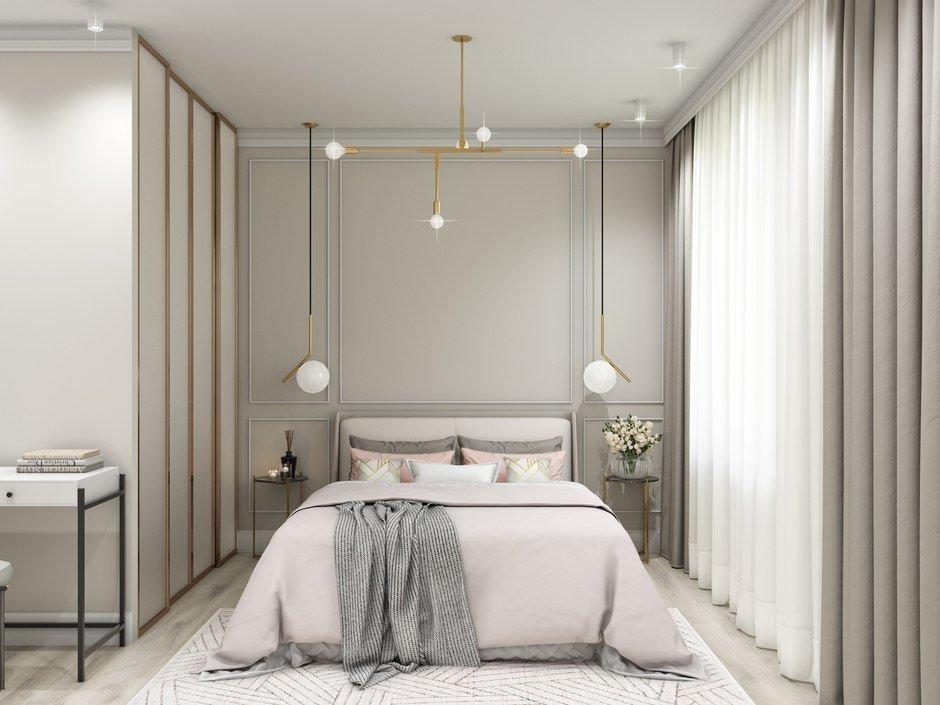Фотография: Спальня в стиле Современный, Квартира, Проект недели, Санкт-Петербург, Блочный дом, 1 комната, 40-60 метров, Яна Грошева – фото на InMyRoom.ru