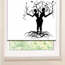 Рулонные шторы: Древесная пара
