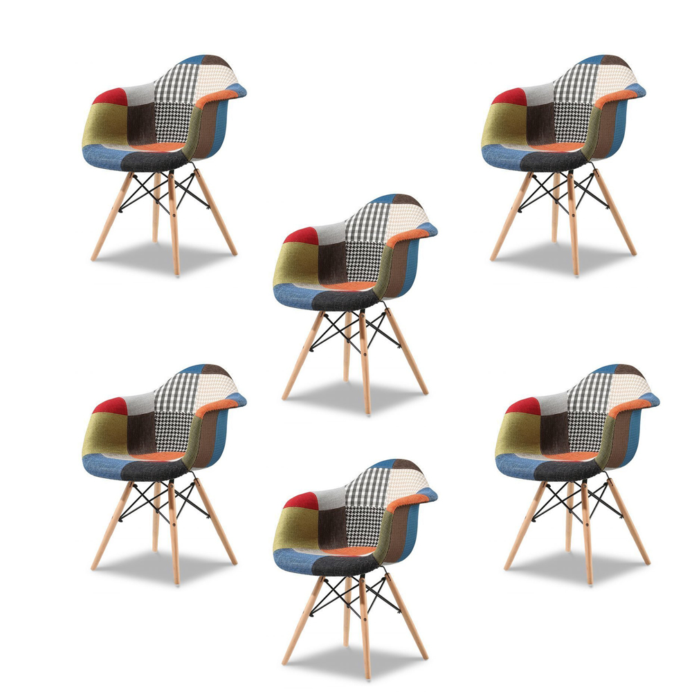 Купить Набор из шести стульев Patchwork, inmyroom, Китай